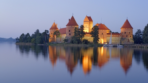 Trakai Island Castle in Galve Lake